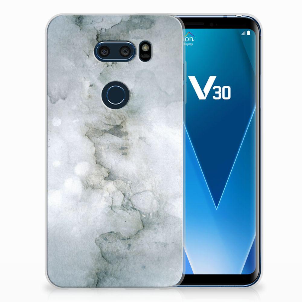 LG V30 Uniek TPU Hoesje Painting Grey