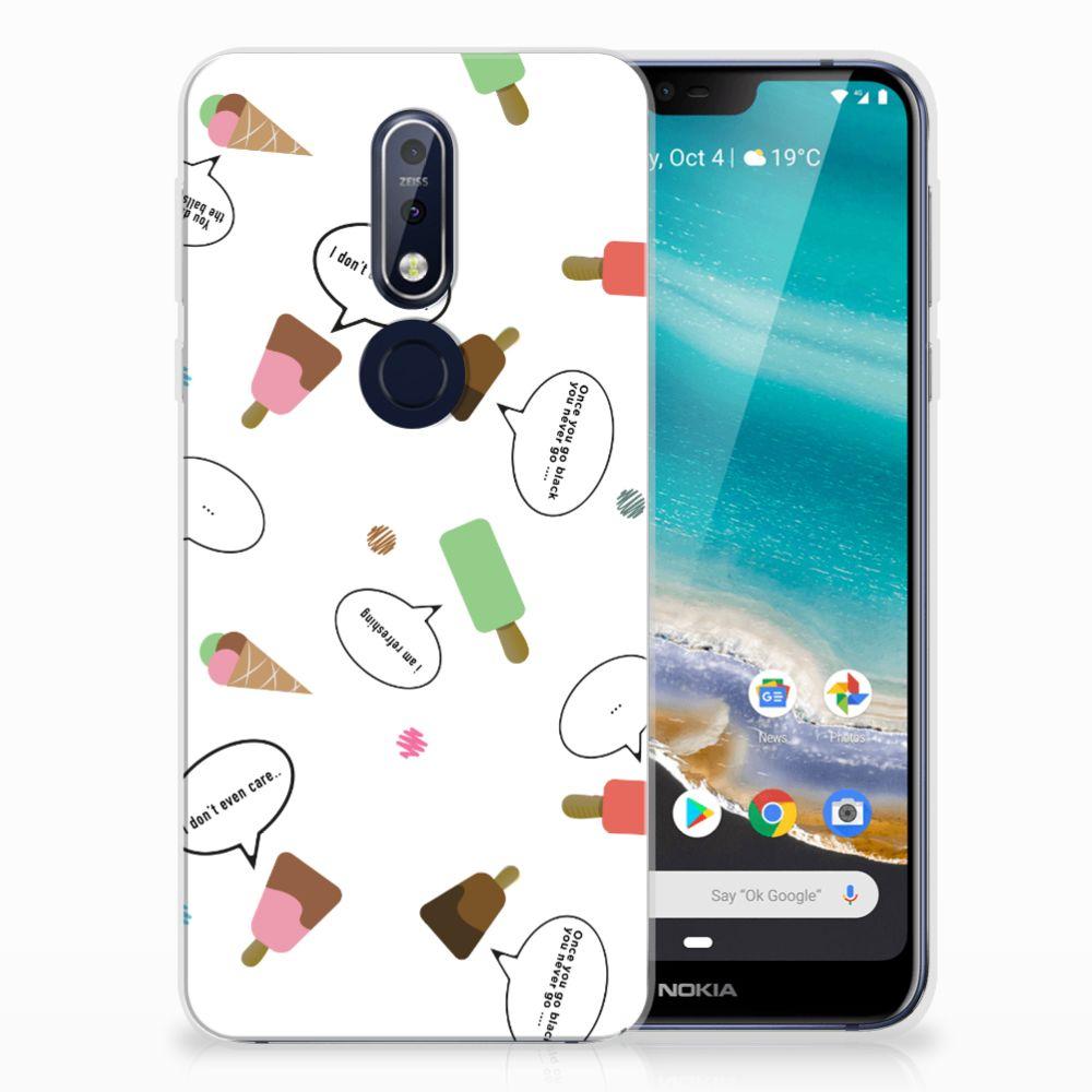 Nokia 7.1 Siliconen Case IJsjes