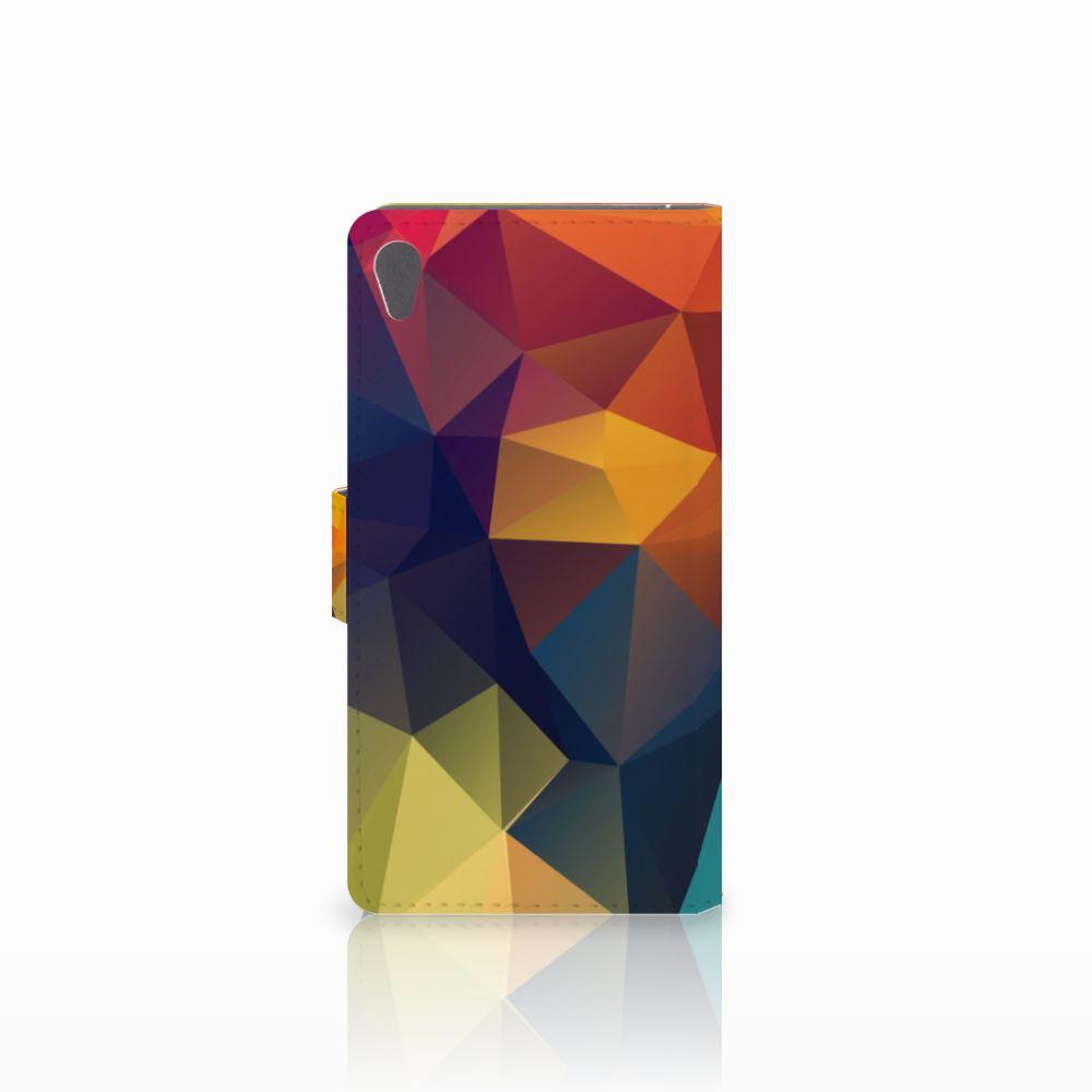 Sony Xperia E5 Bookcase Polygon Color