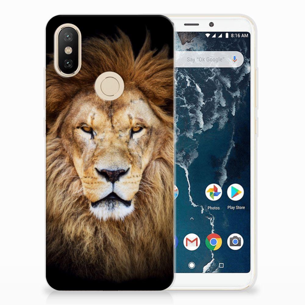 Xiaomi Mi A2 TPU Hoesje Leeuw