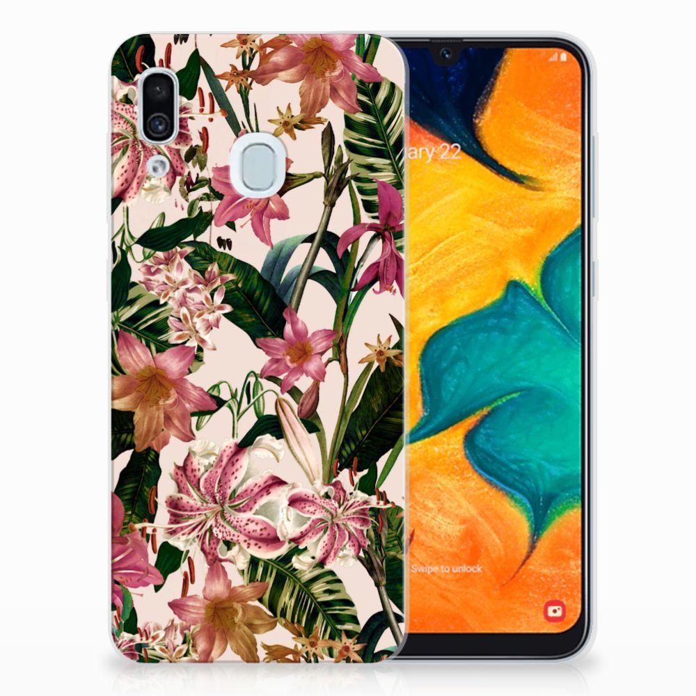 Samsung Galaxy A30 TPU Case Flowers