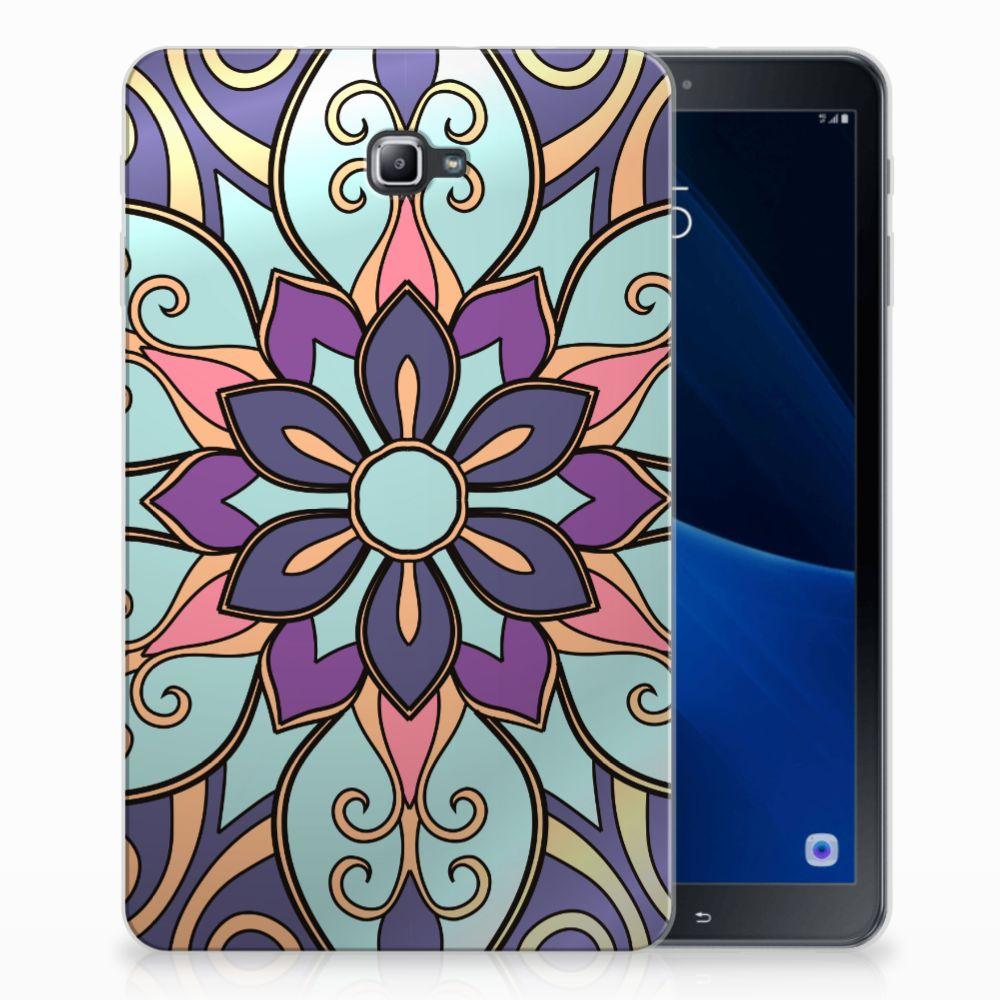 Samsung Galaxy Tab A 10.1 Tablethoesje Design Purple Flower