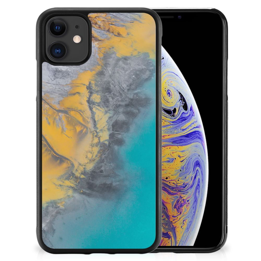 Apple iPhone 11 Gripcase Marble Blue Gold