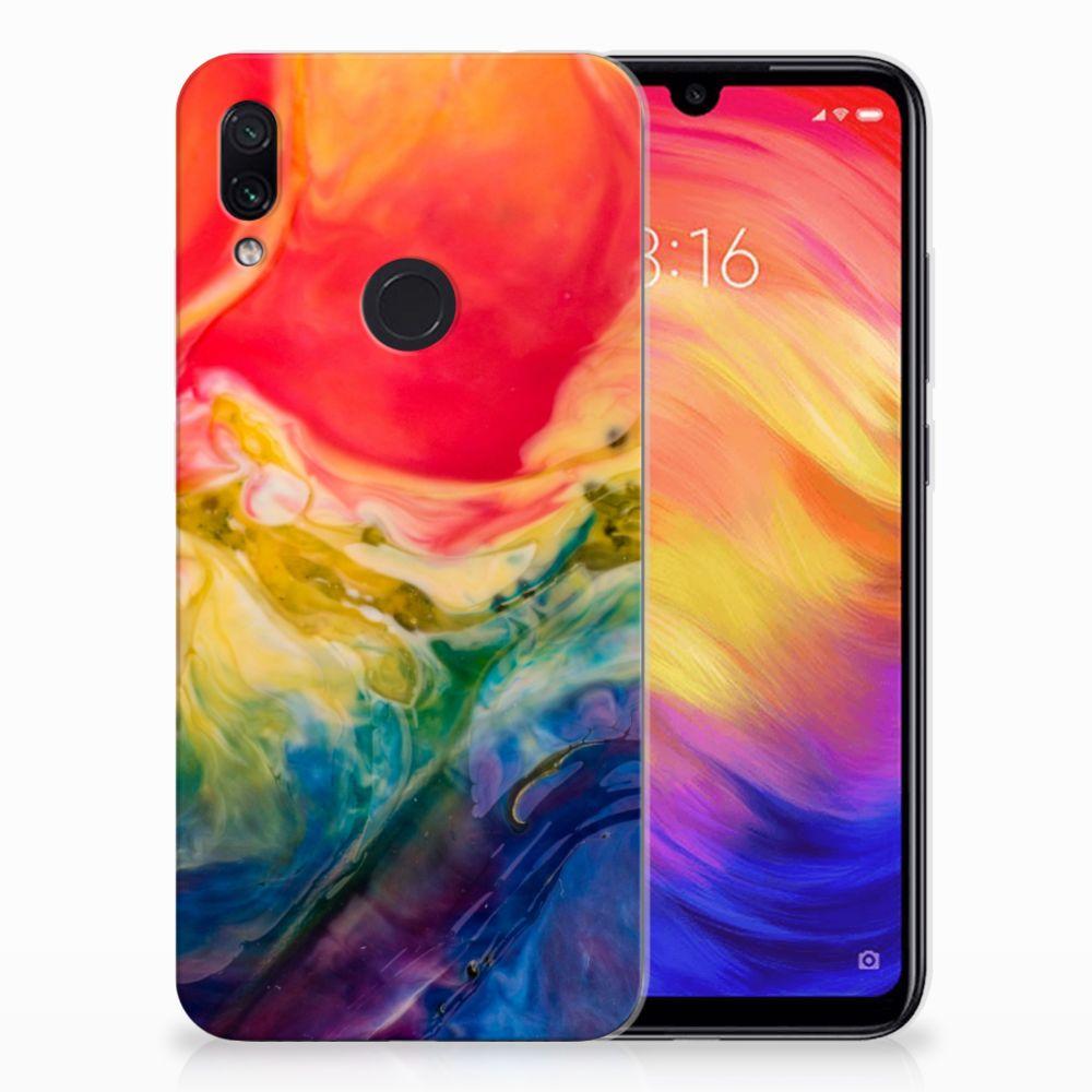 Hoesje maken Xiaomi Redmi Note 7 Watercolor Dark