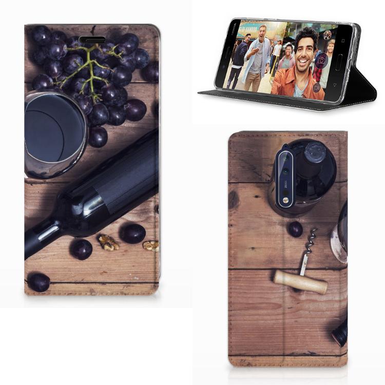 Nokia 8 Flip Style Cover Wijn