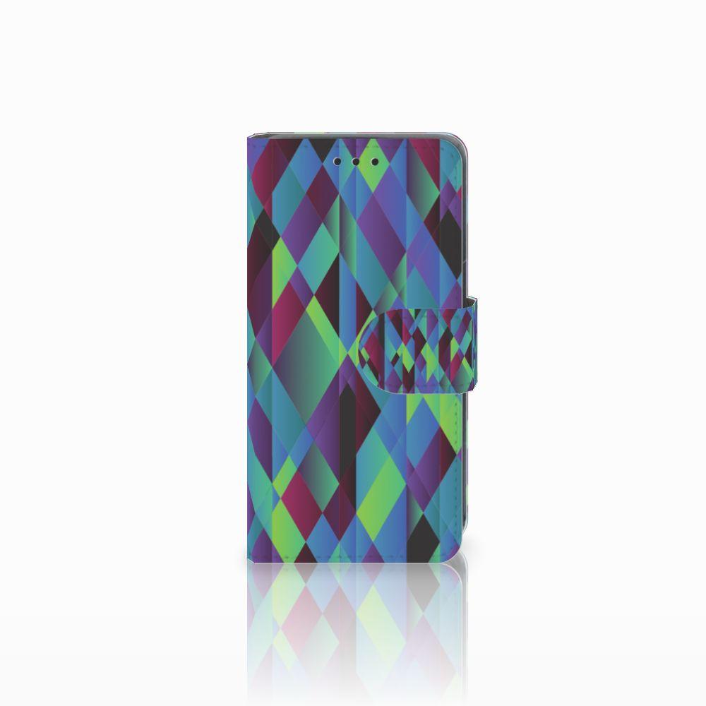 Nokia Lumia 630 Bookcase Abstract Green Blue
