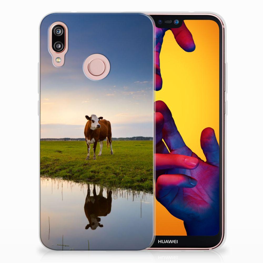 Huawei P20 Lite TPU Hoesje Design Koe