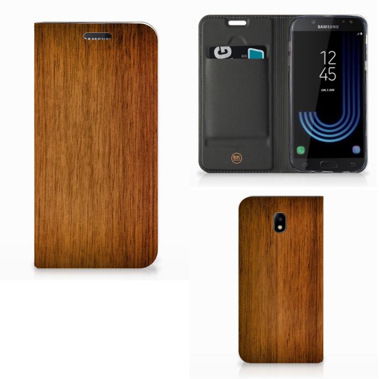 Samsung Galaxy J5 2017 Book Wallet Case Donker Hout