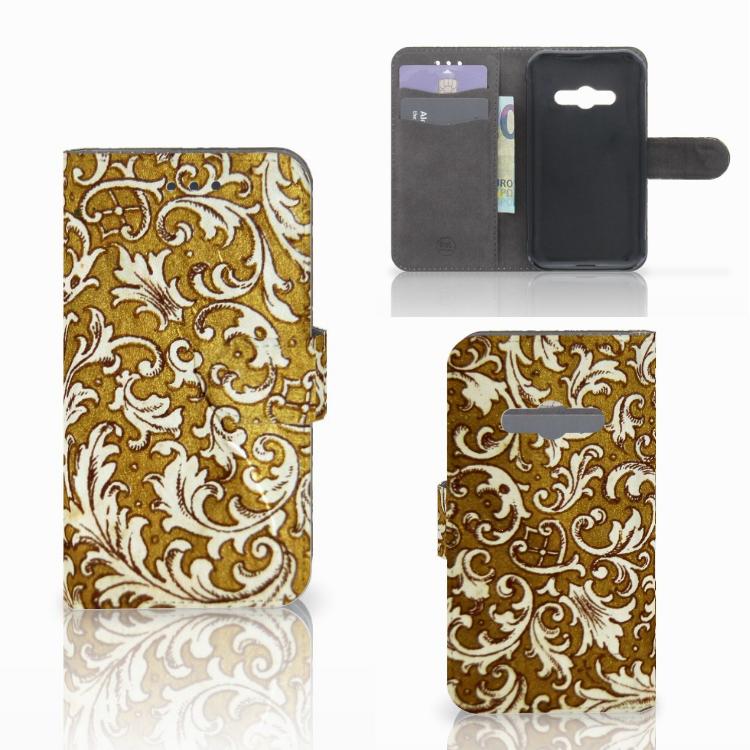 Wallet Case Samsung Galaxy Xcover 3 | Xcover 3 VE Barok Goud
