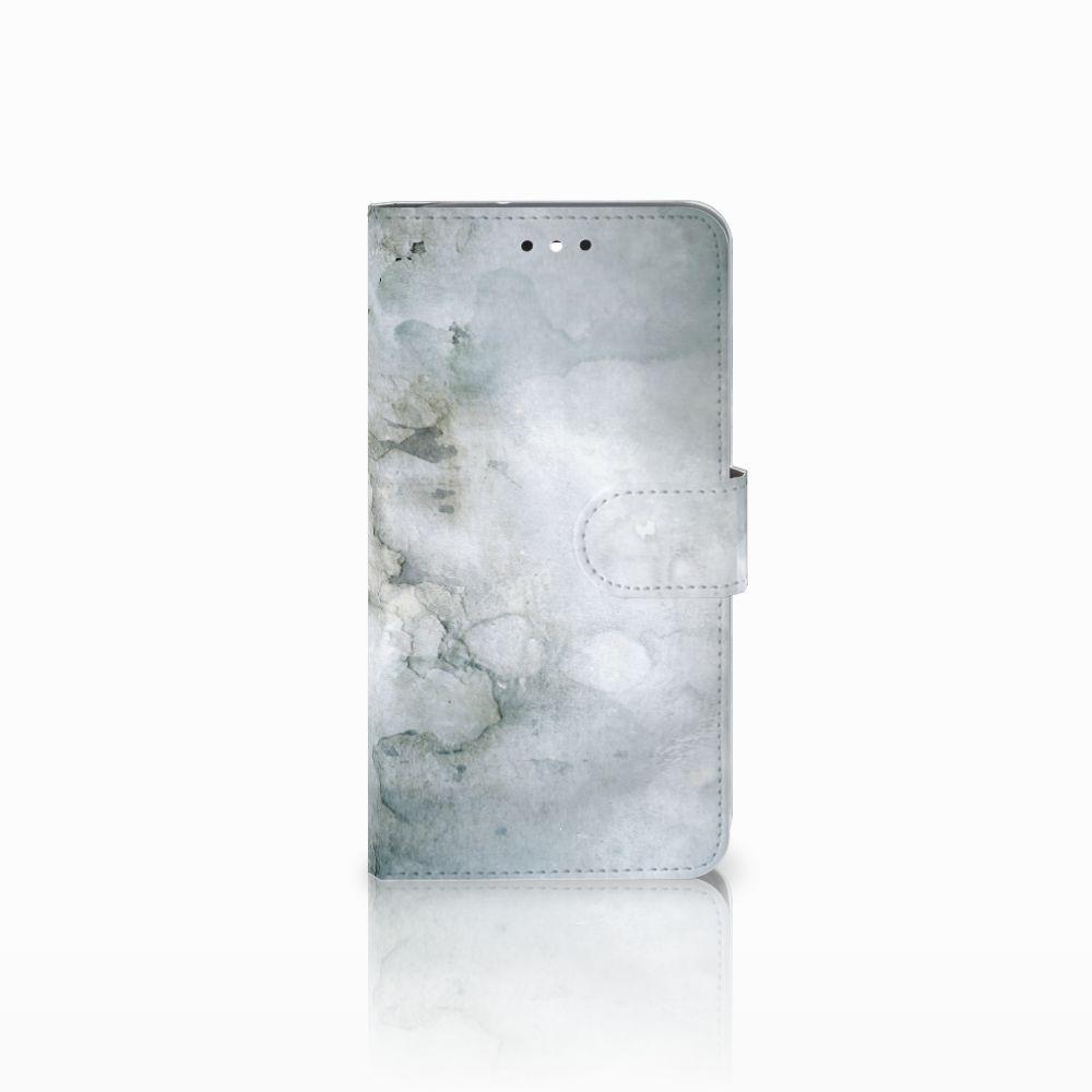 Motorola Moto G4 | G4 Plus Uniek Boekhoesje Painting Grey