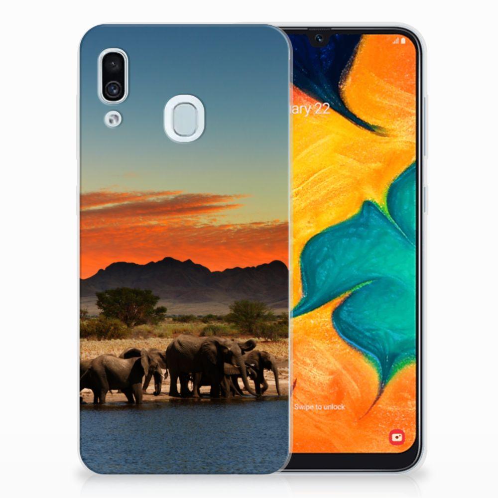Samsung Galaxy A30 TPU Hoesje Olifanten