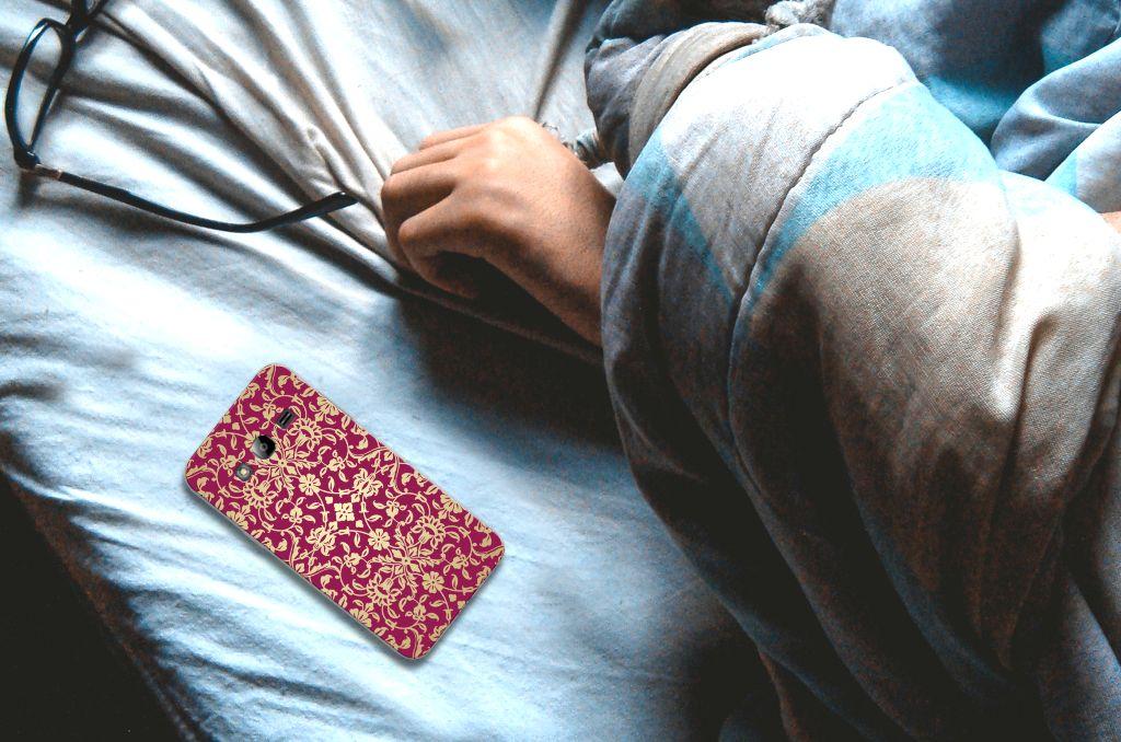 Samsung Galaxy J3 2016 TPU Hoesje Design Barok Pink
