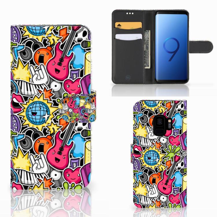 Samsung Galaxy S9 Wallet Case met Pasjes Punk Rock