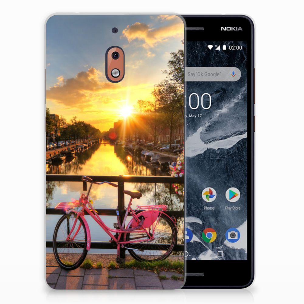 Nokia 2.1 (2018) Uniek TPU Hoesje Amsterdamse Grachten