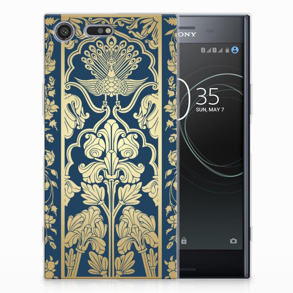 Sony Xperia XZ Premium TPU Hoesje Golden Flowers