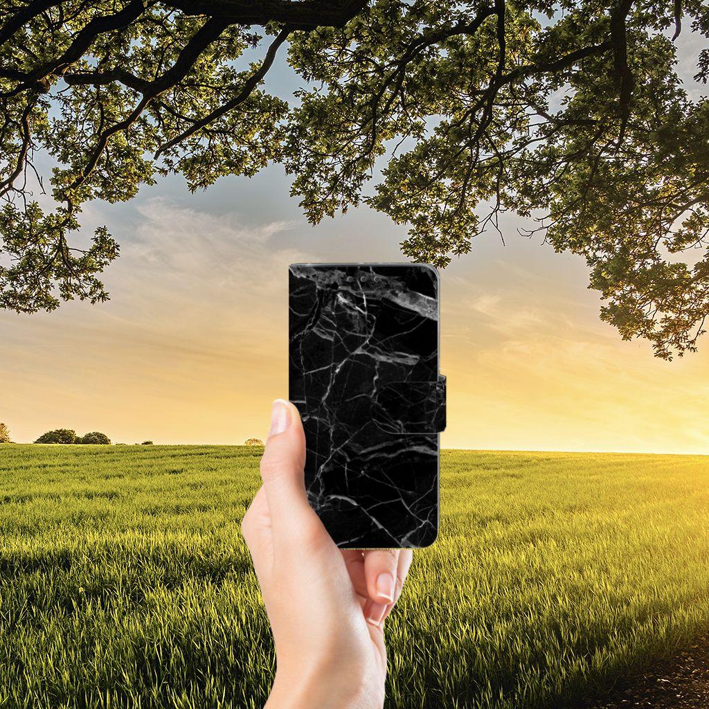 Samsung Galaxy J5 (2015) Boekhoesje Marmer Zwart