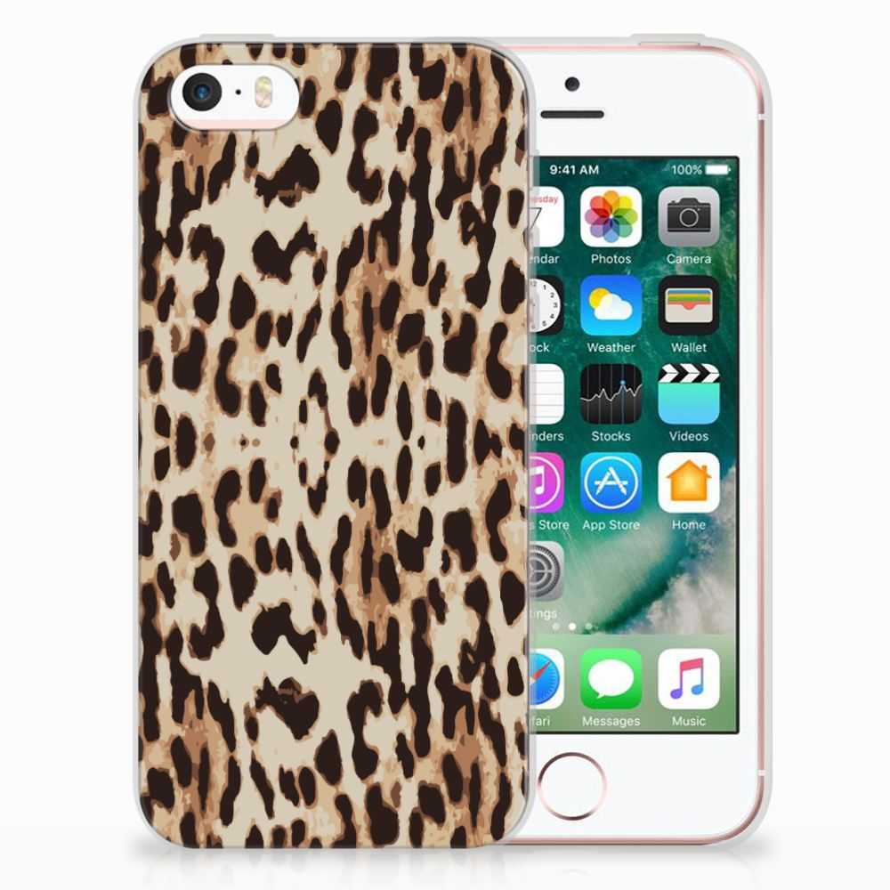 Apple iPhone SE | 5S Uniek TPU Hoesje Leopard
