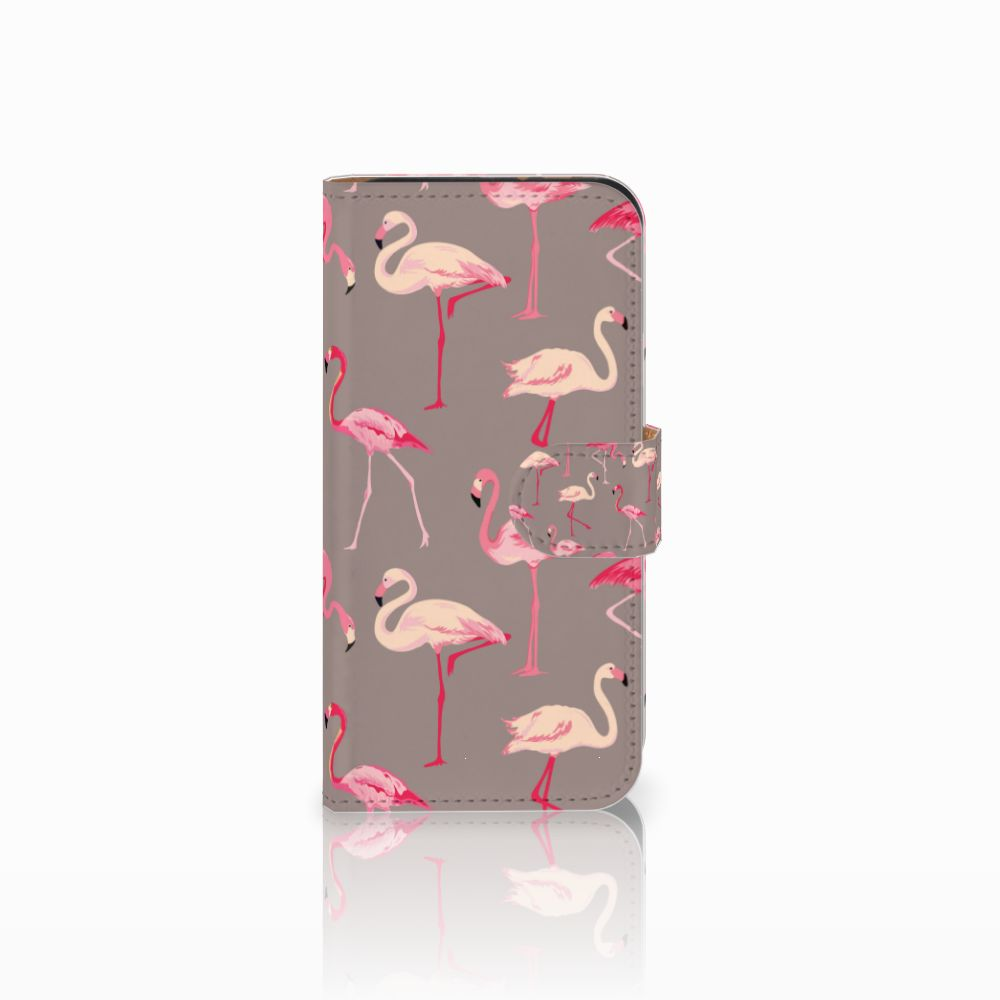HTC One Mini 2 Uniek Boekhoesje Flamingo