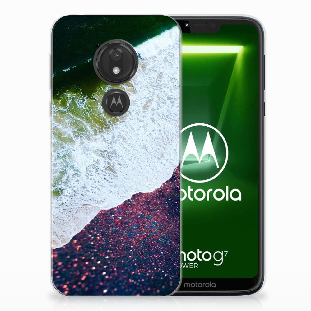 Motorola Moto G7 Power TPU Hoesje Sea in Space