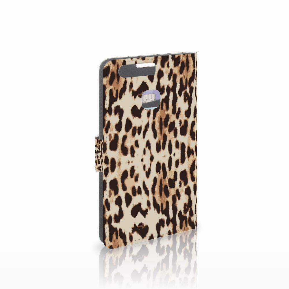 Huawei P9 Plus Uniek Boekhoesje Leopard