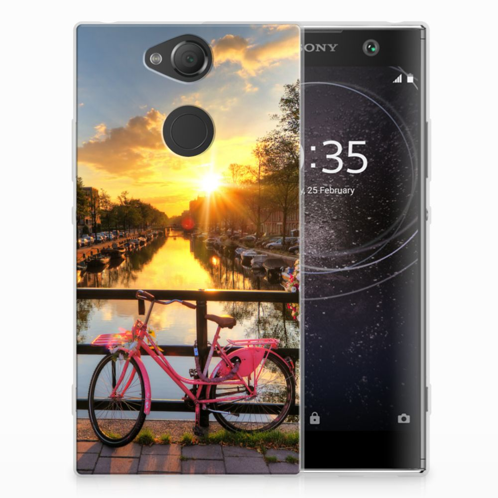 Sony Xperia XA2 Uniek TPU Hoesje Amsterdamse Grachten