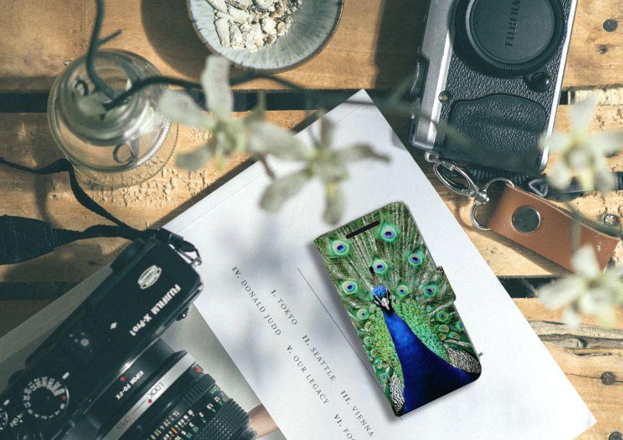 HTC One M9 Telefoonhoesje met Pasjes Pauw