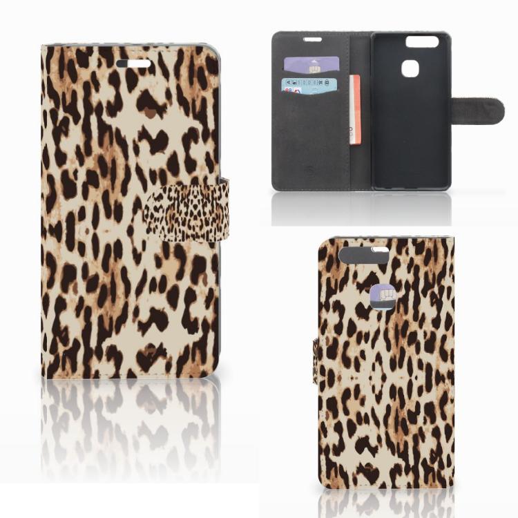 Huawei P9 Plus Telefoonhoesje met Pasjes Leopard