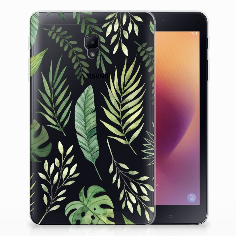 Samsung Galaxy Tab A 8.0 (2017) Siliconen Hoesje Leaves