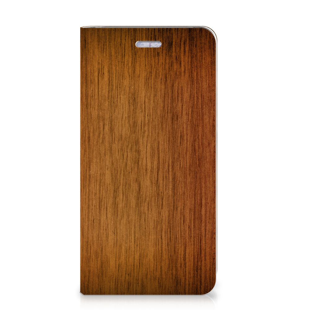 Nokia 9 PureView Book Wallet Case Donker Hout