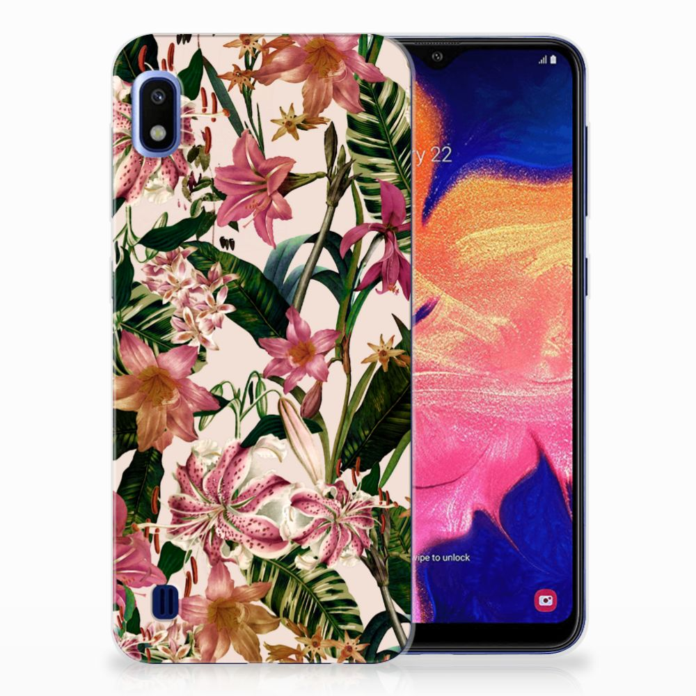 Samsung Galaxy A10 TPU Case Flowers