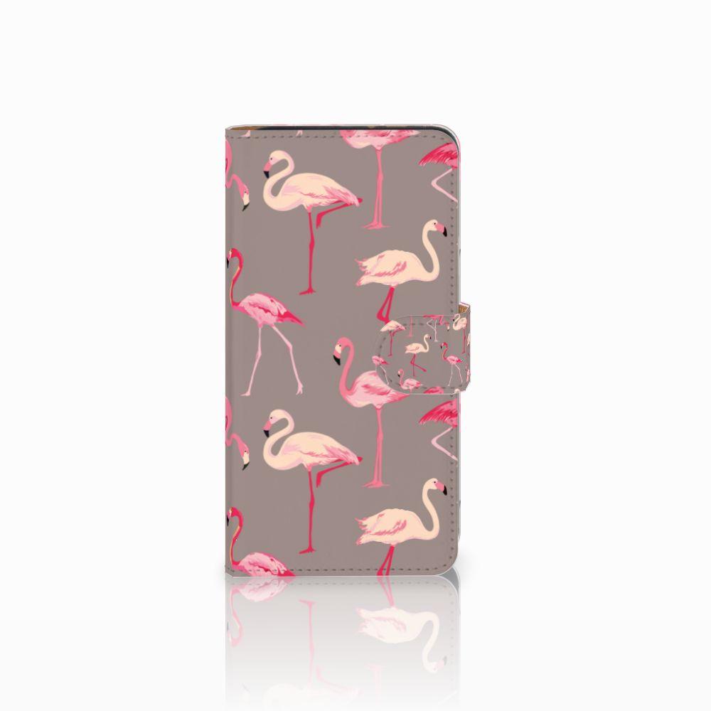Wiko Lenny 3 Uniek Boekhoesje Flamingo