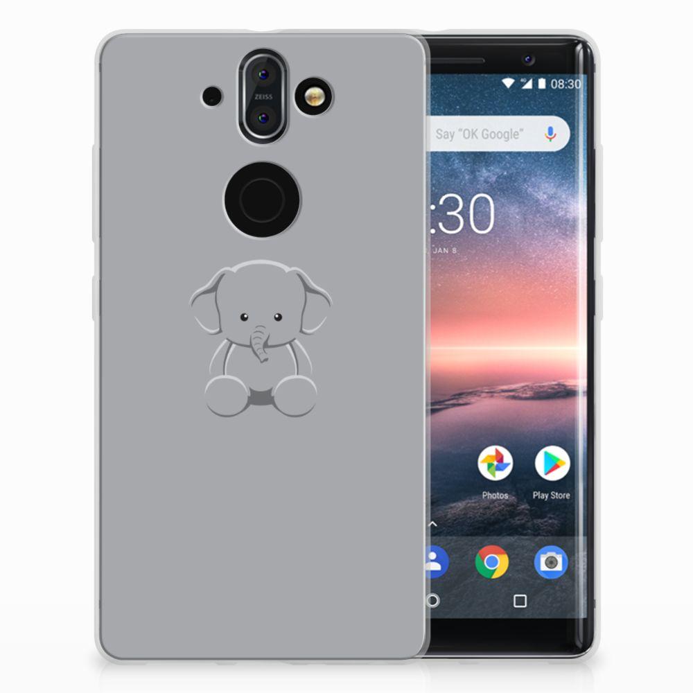 Nokia 9 | 8 Sirocco Uniek TPU Hoesje Baby Olifant