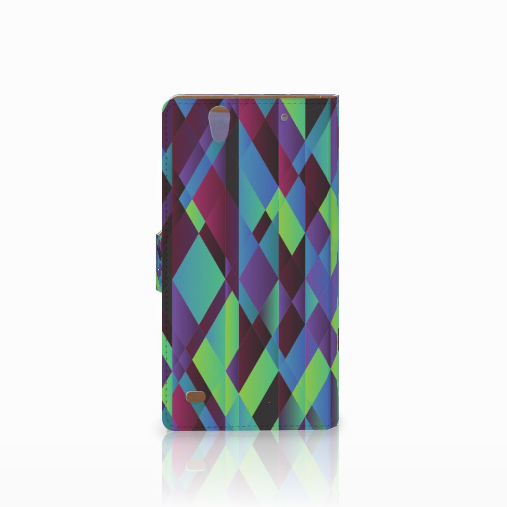 Sony Xperia C4 Bookcase Abstract Green Blue