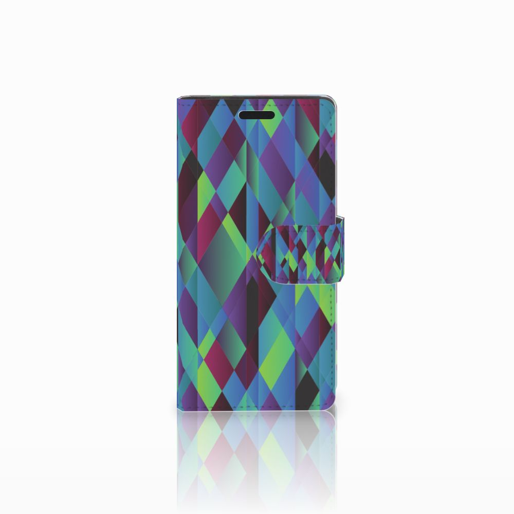 LG Leon 4G Boekhoesje Design Abstract Green Blue