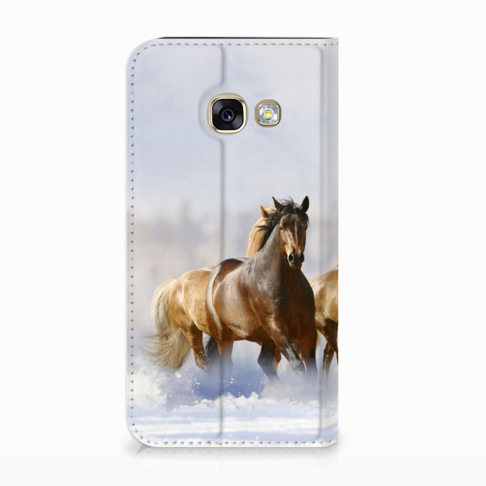 Samsung Galaxy A3 2017 Uniek Standcase Hoesje Paarden