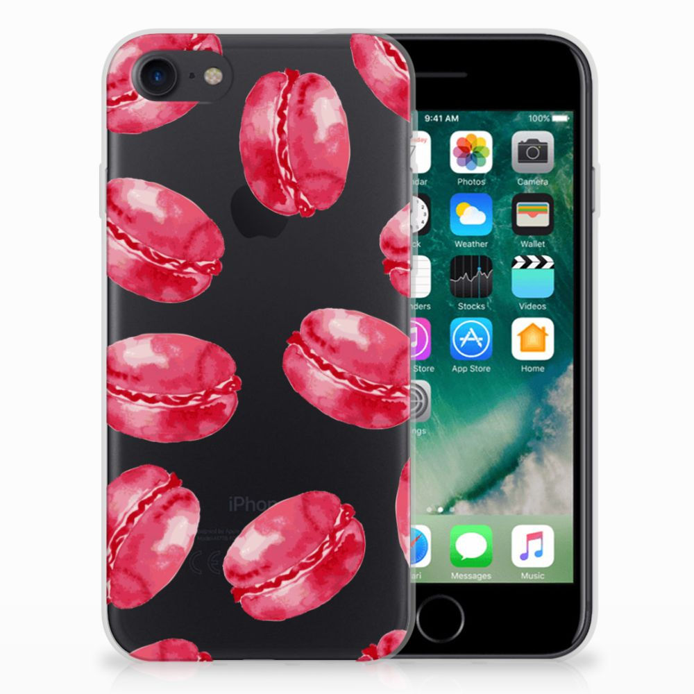 Apple iPhone 7 | 8 Siliconen Case Pink Macarons