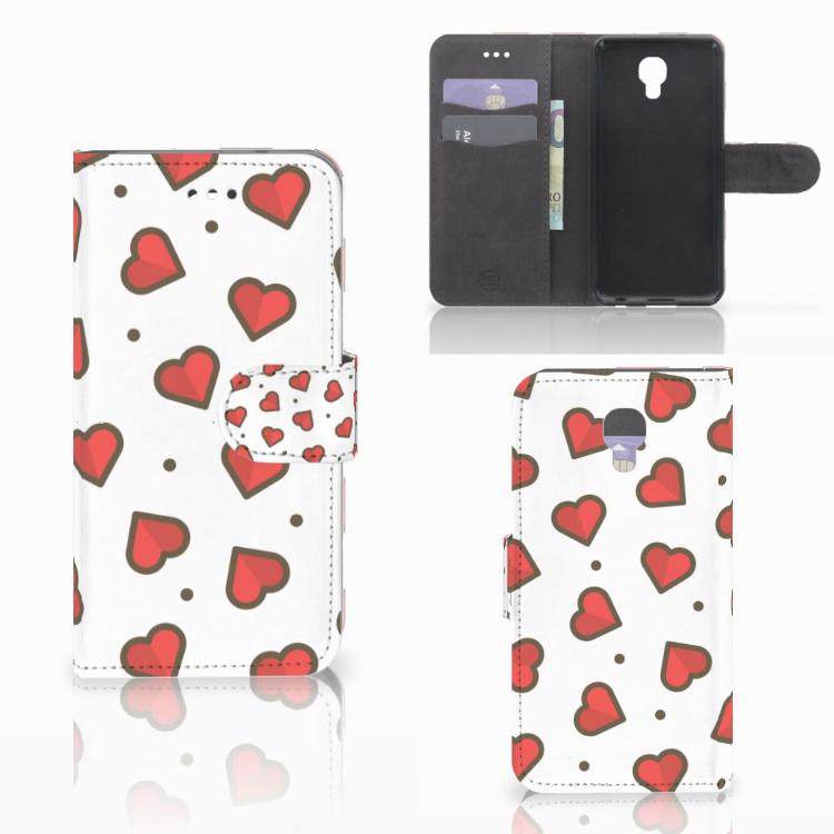 LG X Screen Telefoon Hoesje Hearts