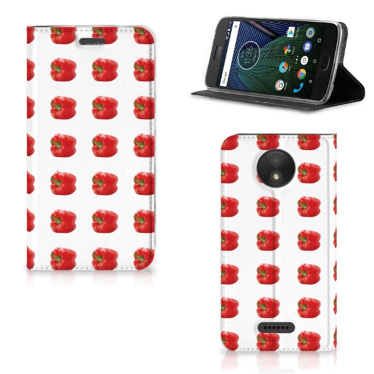 Motorola Moto C Plus Flip Style Cover Paprika Red