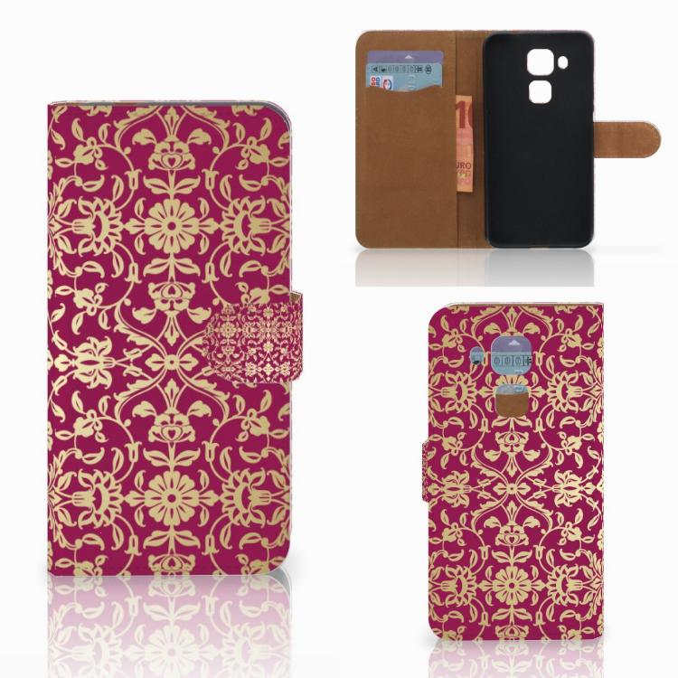 Wallet Case Huawei Nova Plus Barok Pink