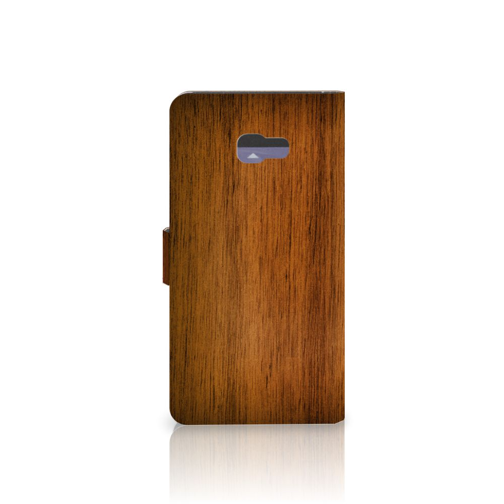 Samsung Galaxy A7 2017 Book Style Case Donker Hout