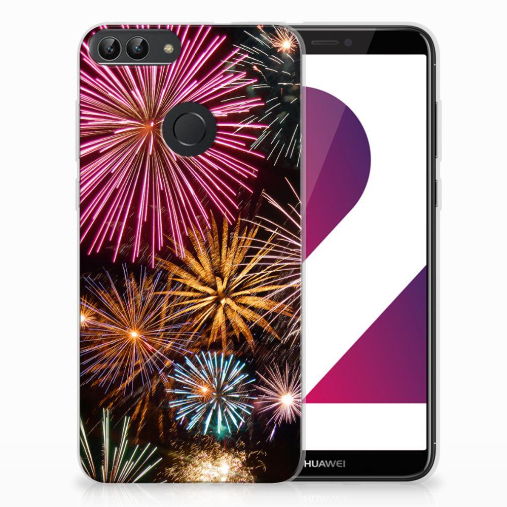 Huawei P Smart TPU Hoesje Design Vuurwerk