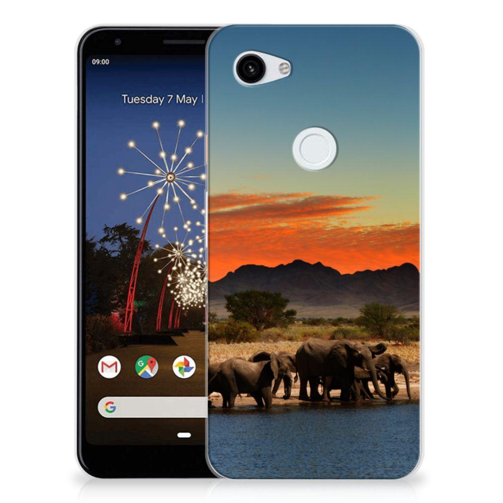 Google Pixel 3A XL TPU Hoesje Olifanten