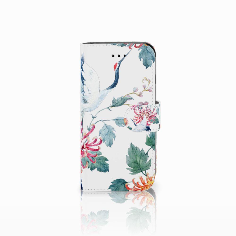 Apple iPhone 6 | 6s Uniek Boekhoesje Bird Flowers