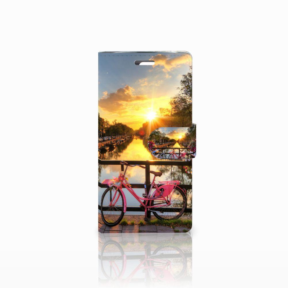 LG K10 2015 Uniek Boekhoesje Amsterdamse Grachten