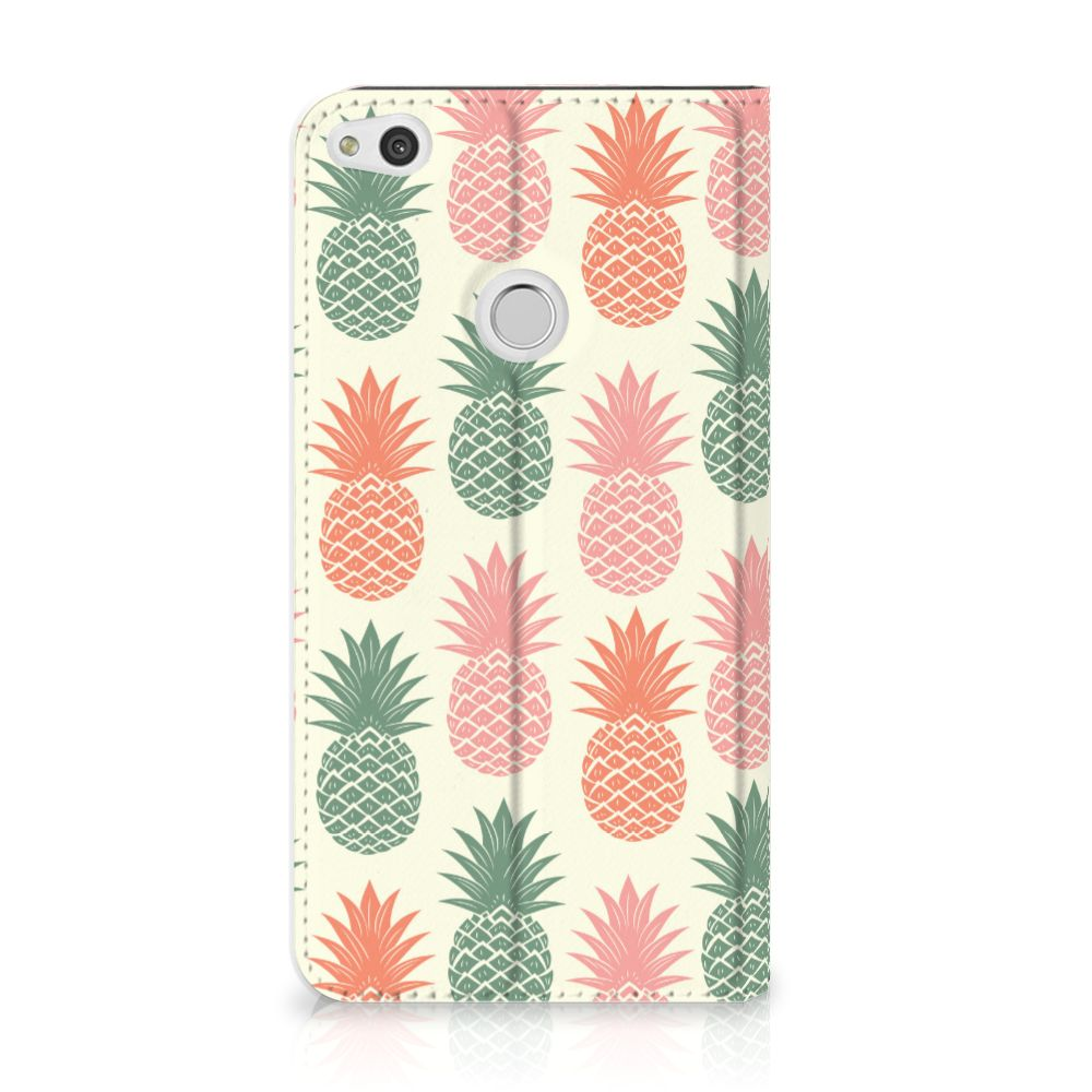 Huawei P8 Lite 2017 Standcase Hoesje Design Ananas