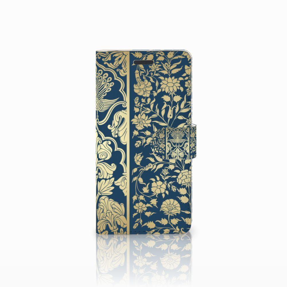 Samsung Galaxy Note 5 Boekhoesje Golden Flowers