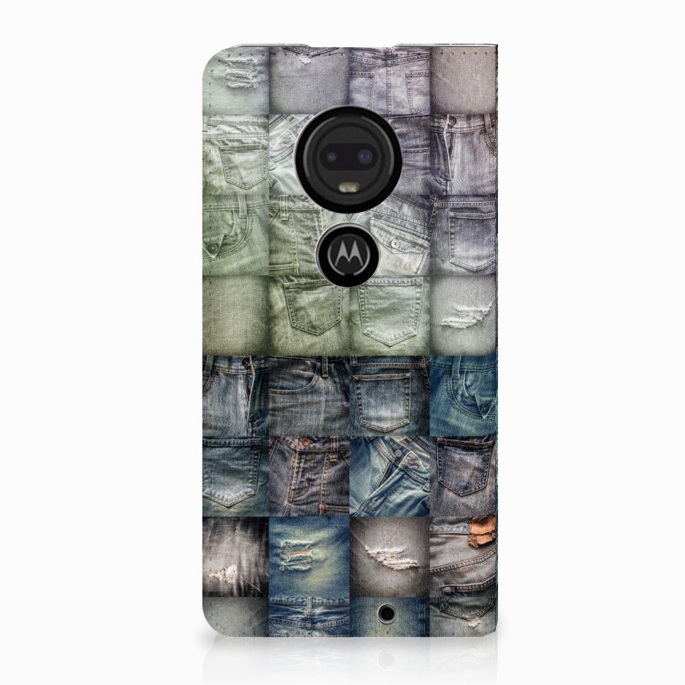 Motorola Moto G7 | G7 Plus Uniek Standcase Hoesje Spijkerbroeken