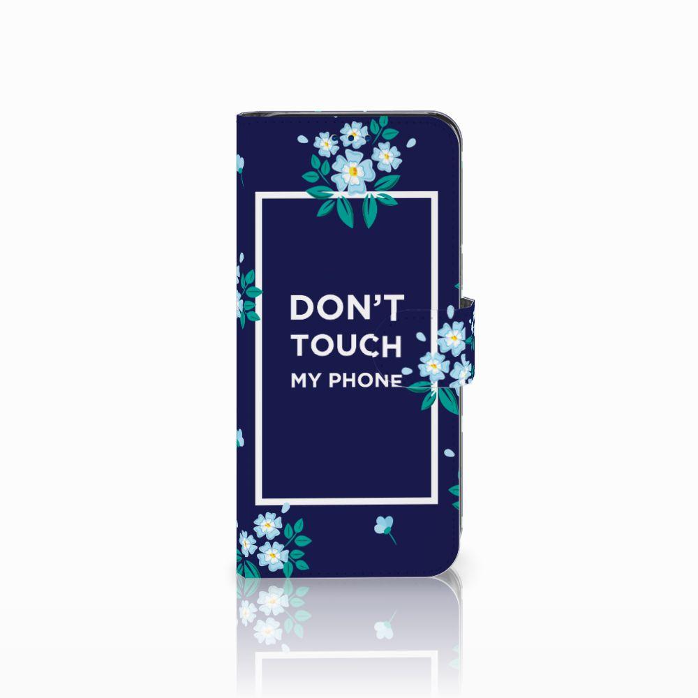 Samsung Galaxy S8 Boekhoesje Flowers Blue DTMP