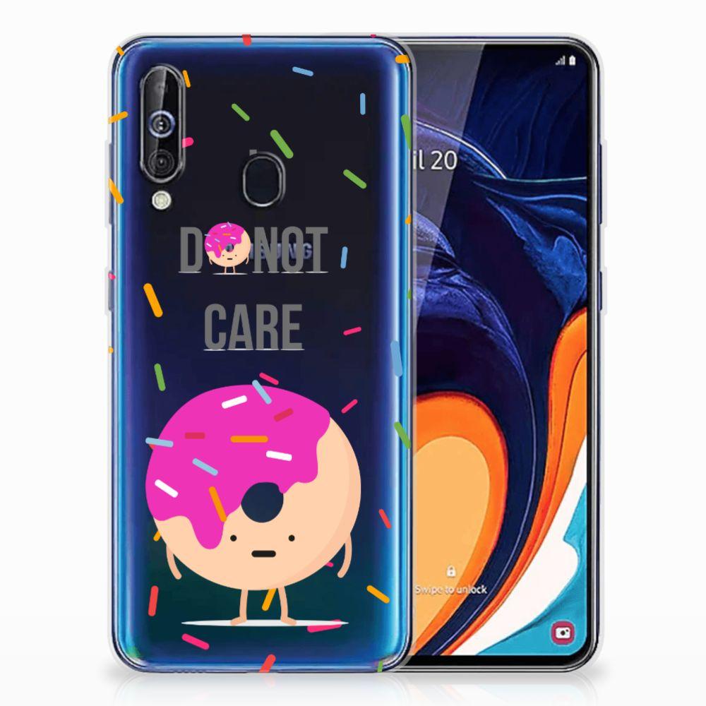 Samsung Galaxy A60 Siliconen Case Donut Roze