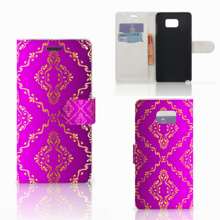 Wallet Case Samsung Galaxy Note 5 Barok Roze